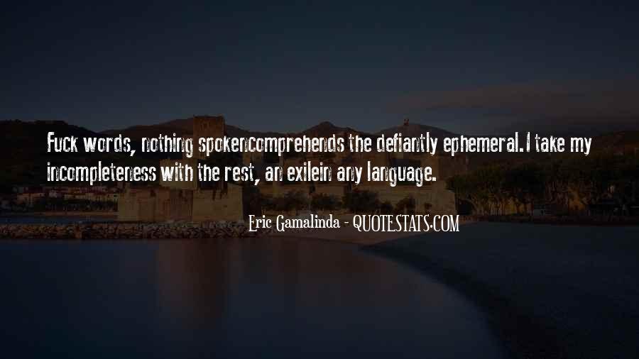 Eric Gamalinda Quotes #1478304