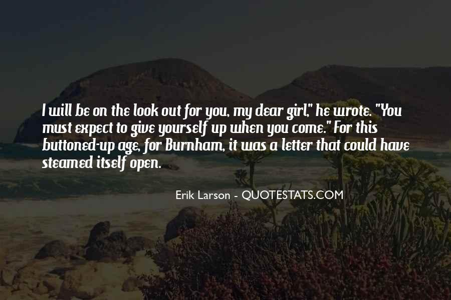 Erik Larson Quotes #91991