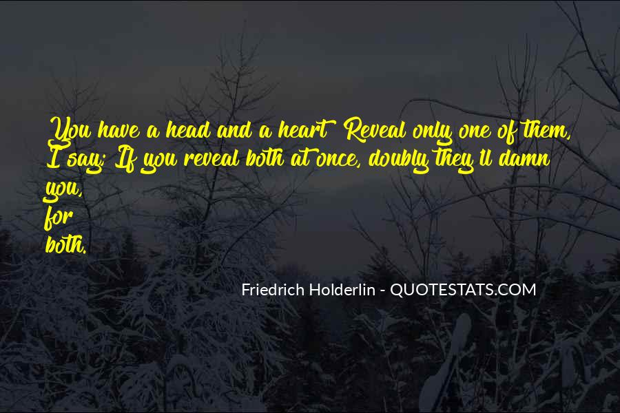 Friedrich Holderlin Quotes #1419125