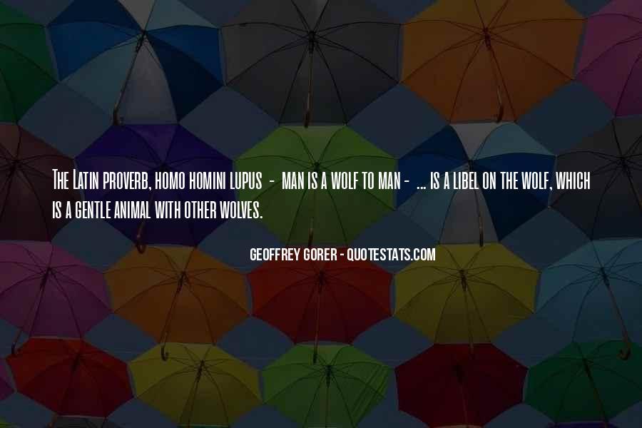 Geoffrey Gorer Quotes #665777