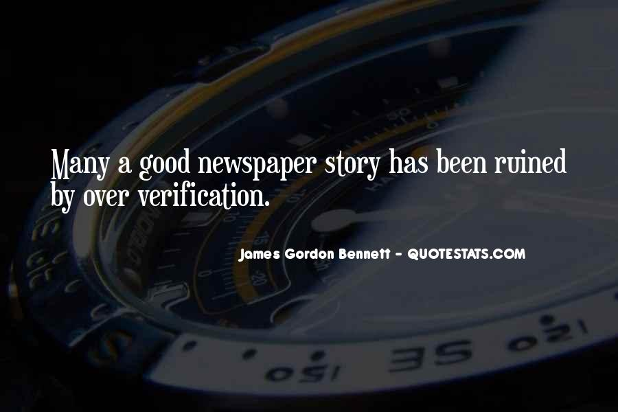 Gordon Bennett Quotes #1055581