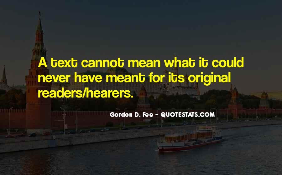 Gordon Fee Quotes #390837