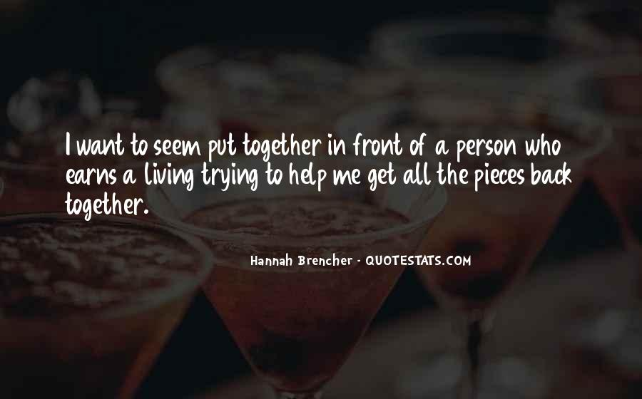 Hannah Brencher Quotes #50434