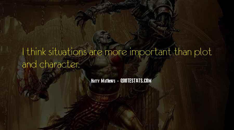 Harry Mathews Quotes #1077267