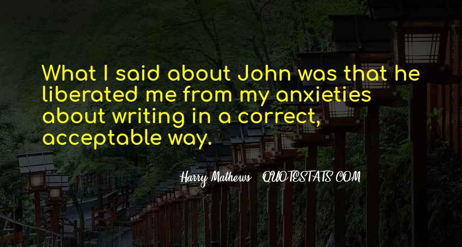 Harry Mathews Quotes #1719557