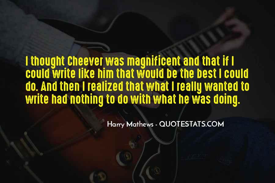 Harry Mathews Quotes #1841623