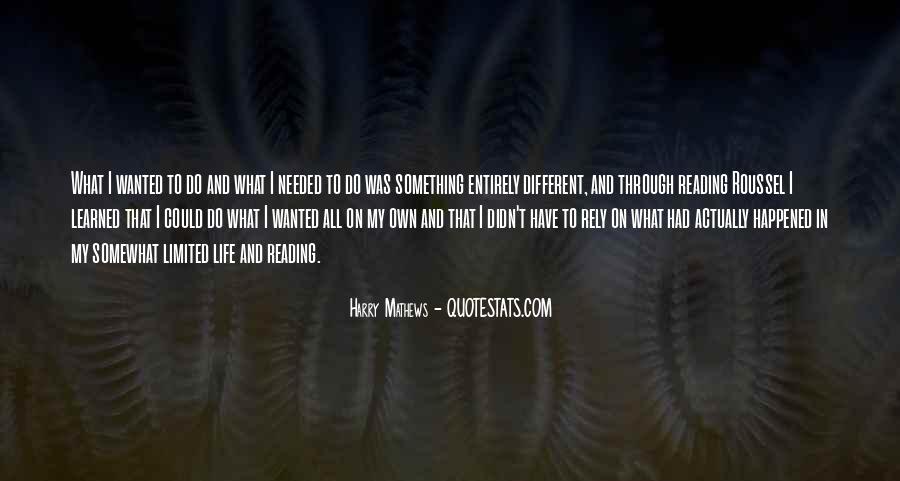 Harry Mathews Quotes #92522