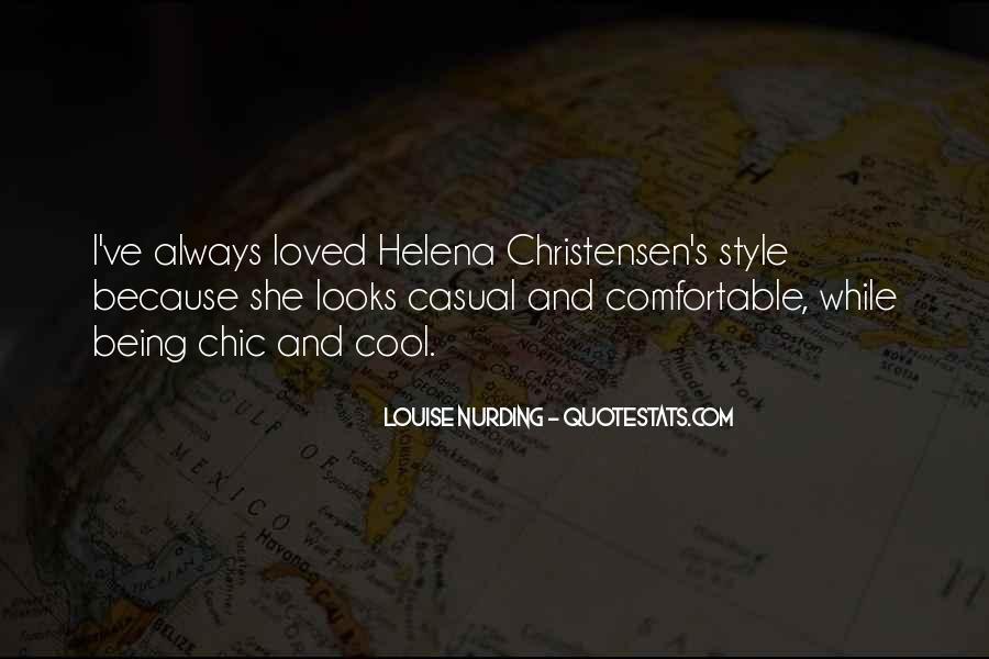 Helena Christensen Quotes #1876262