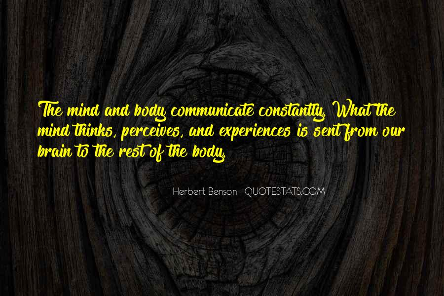 Herbert Benson Quotes #1445210