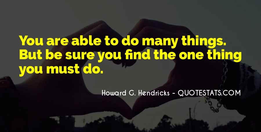 Howard Hendricks Quotes #1322399