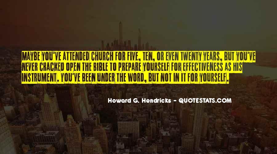 Howard Hendricks Quotes #476217