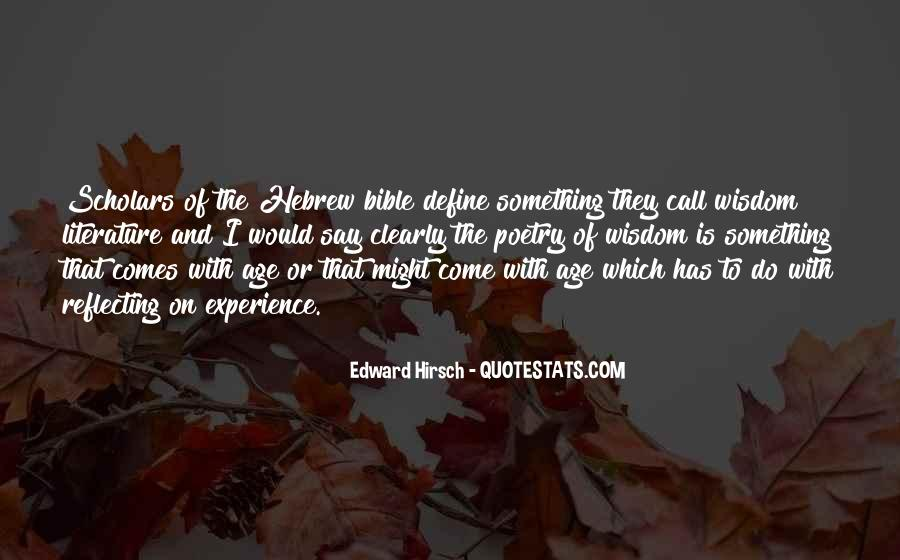 Quotes About Experience From The Bible #1438324
