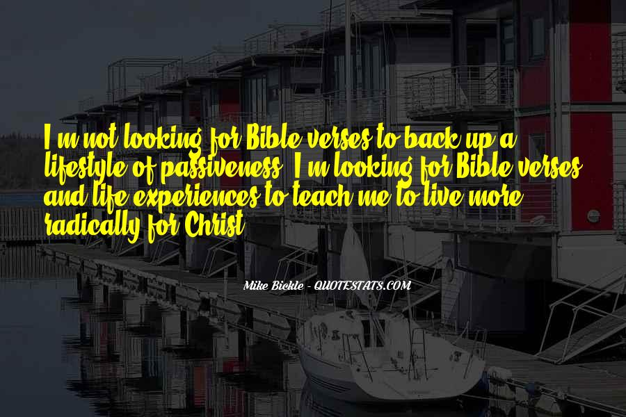 Quotes About Experience From The Bible #1497819