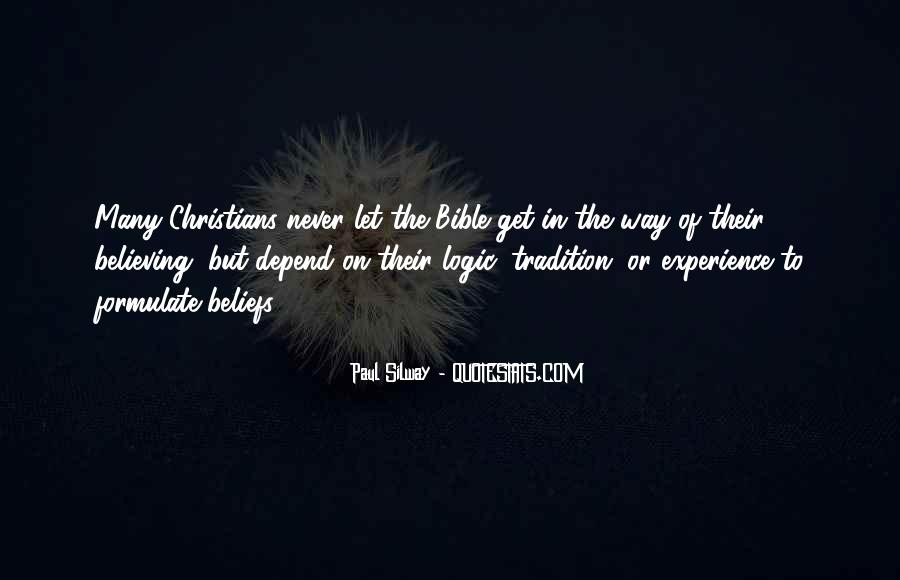 Quotes About Experience From The Bible #1821374