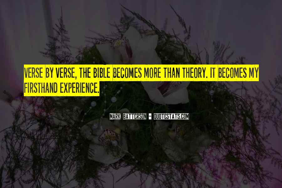 Quotes About Experience From The Bible #724621