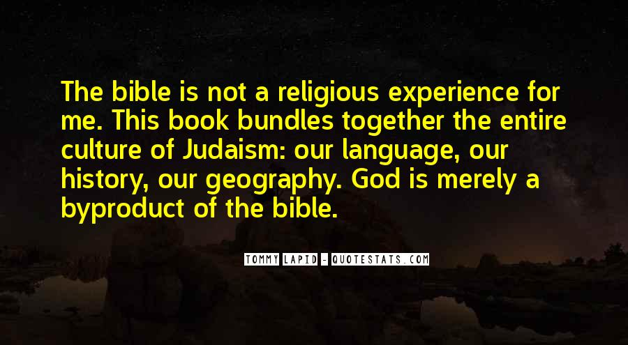 Quotes About Experience From The Bible #74393