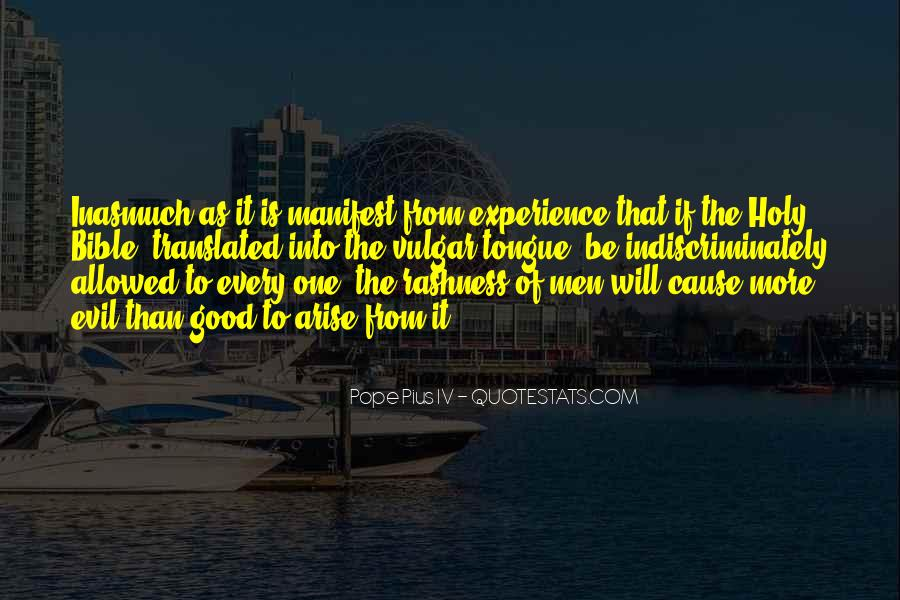 Quotes About Experience From The Bible #888249