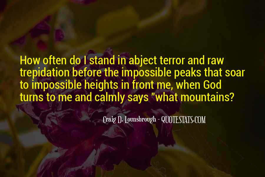 Quotes About Terror And Fear #1317974