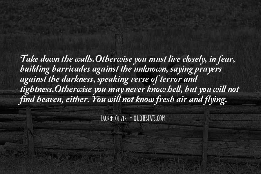 Quotes About Terror And Fear #135415