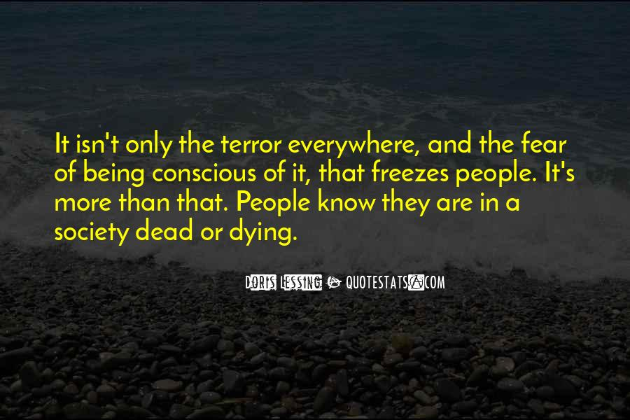 Quotes About Terror And Fear #1385316