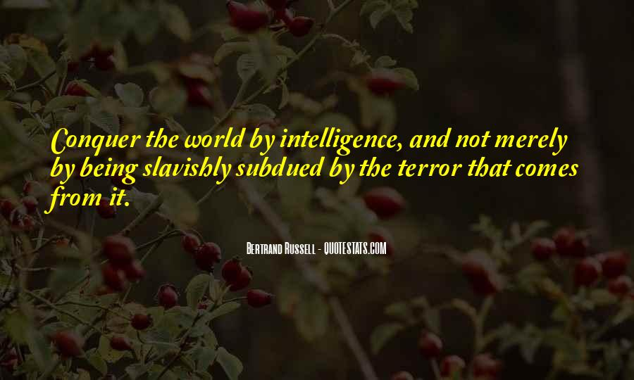 Quotes About Terror And Fear #18564