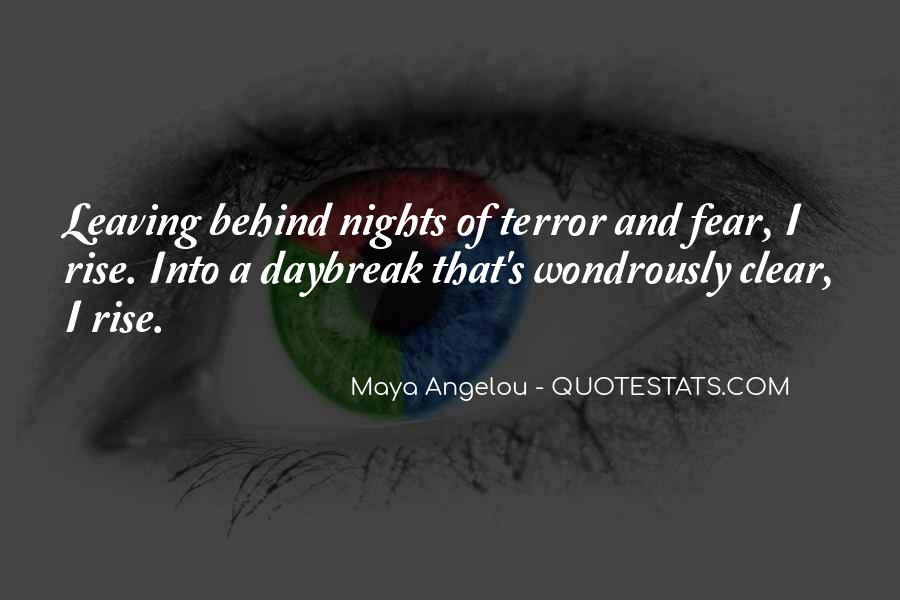 Quotes About Terror And Fear #641375