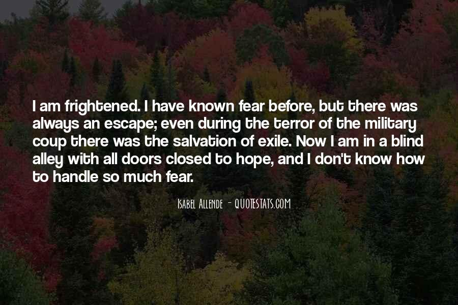 Quotes About Terror And Fear #901605