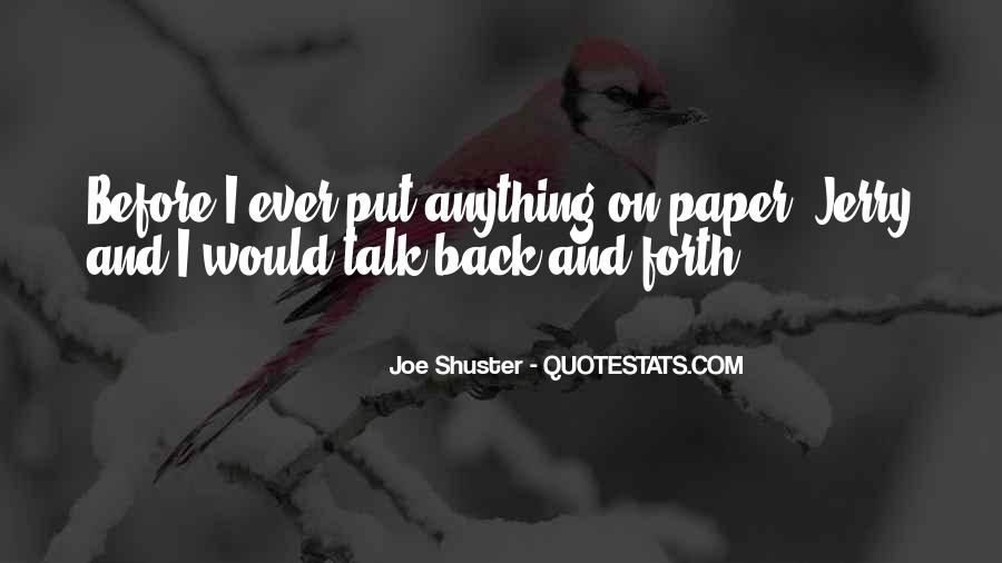 Joe Shuster Quotes #1547002