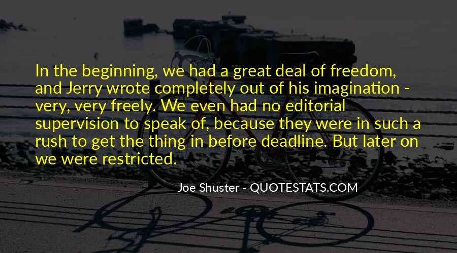 Joe Shuster Quotes #1737651
