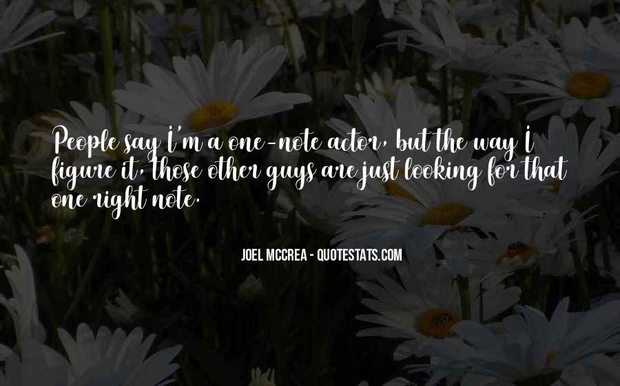 Joel Mccrea Quotes #1055064