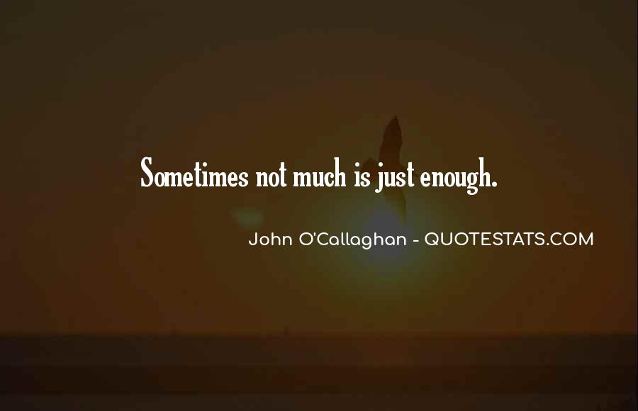 John O Callaghan Quotes #1219524
