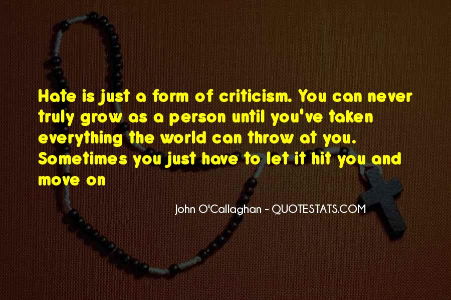 John O Callaghan Quotes #192187