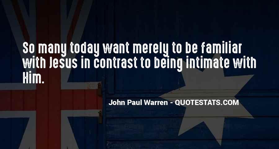 John Paul Warren Quotes #1008221