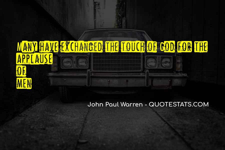 John Paul Warren Quotes #1338912