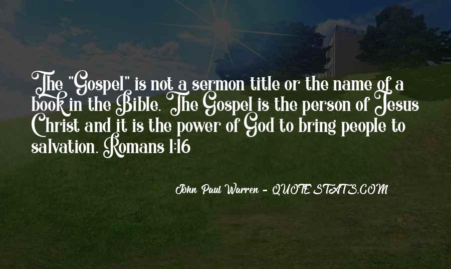John Paul Warren Quotes #1740891