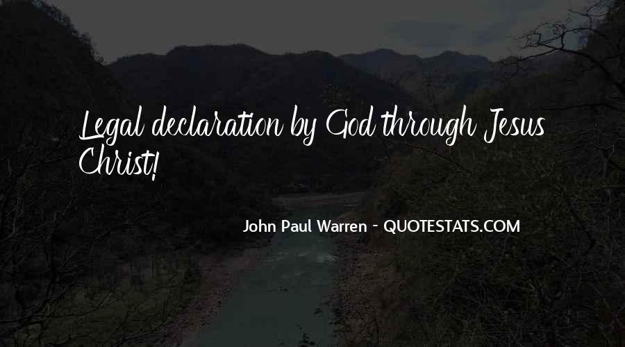 John Paul Warren Quotes #1806053