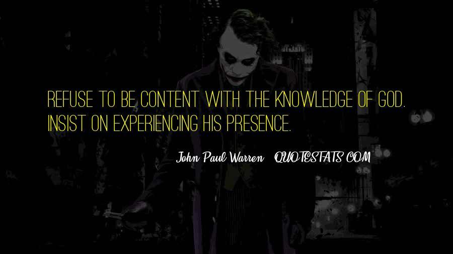 John Paul Warren Quotes #237390