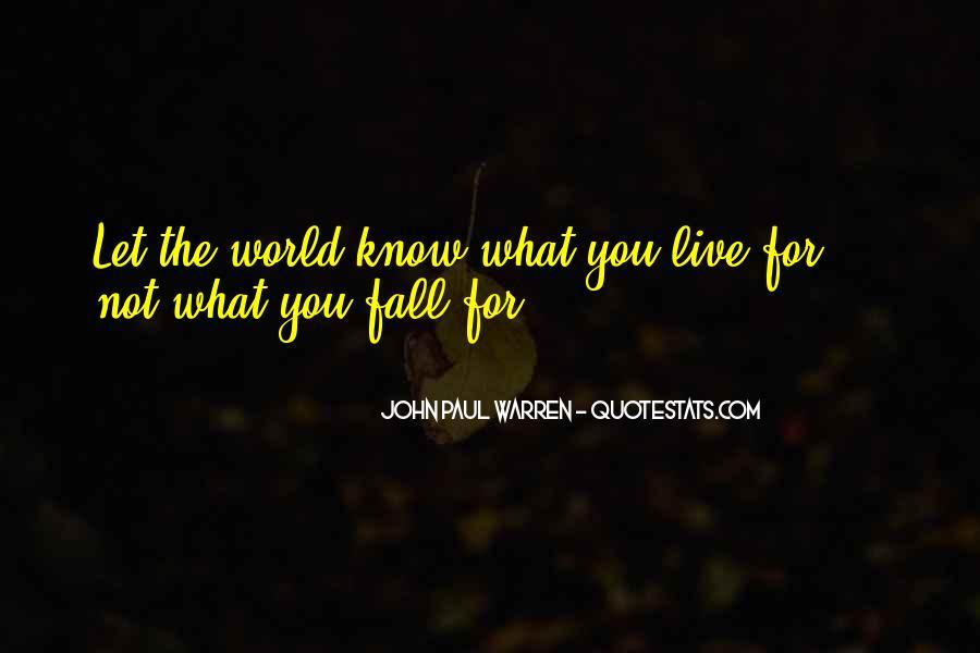 John Paul Warren Quotes #709424