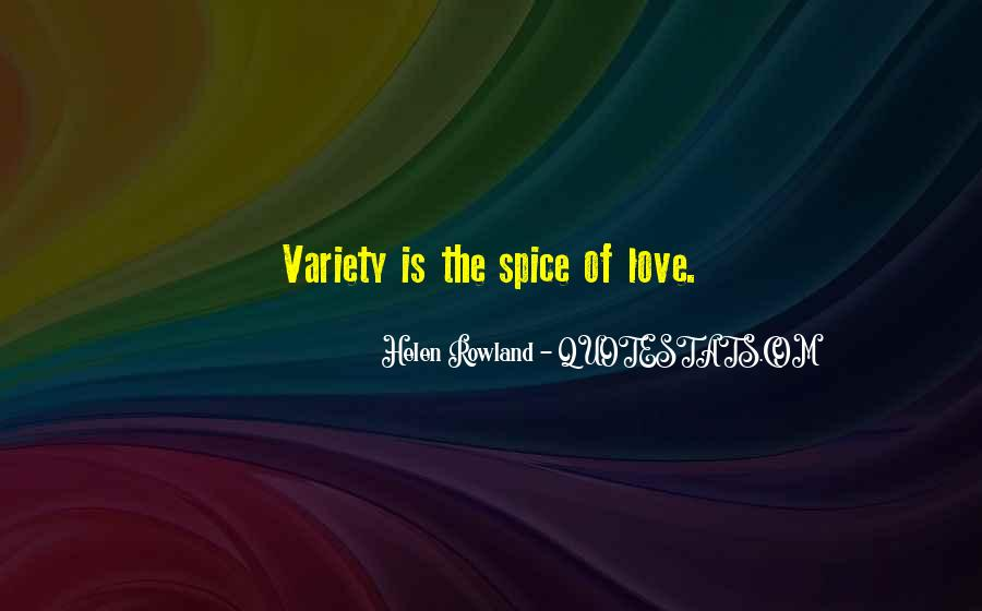 Quotes About Spice And Love #1803232