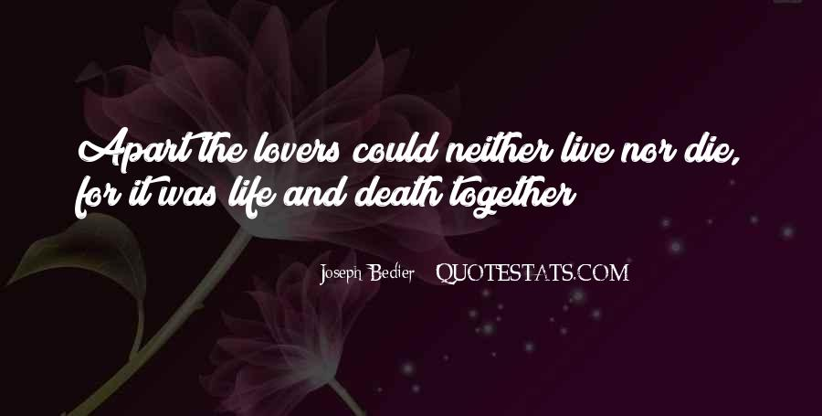 Joseph Bedier Quotes #181140