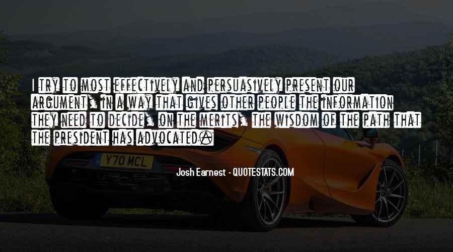 Josh Earnest Quotes #1677376
