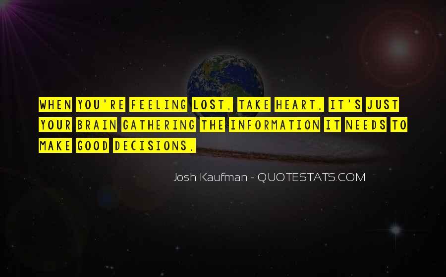Josh Kaufman Quotes #1081846