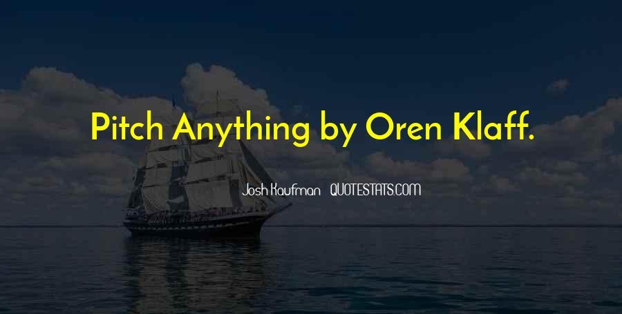 Josh Kaufman Quotes #1788884