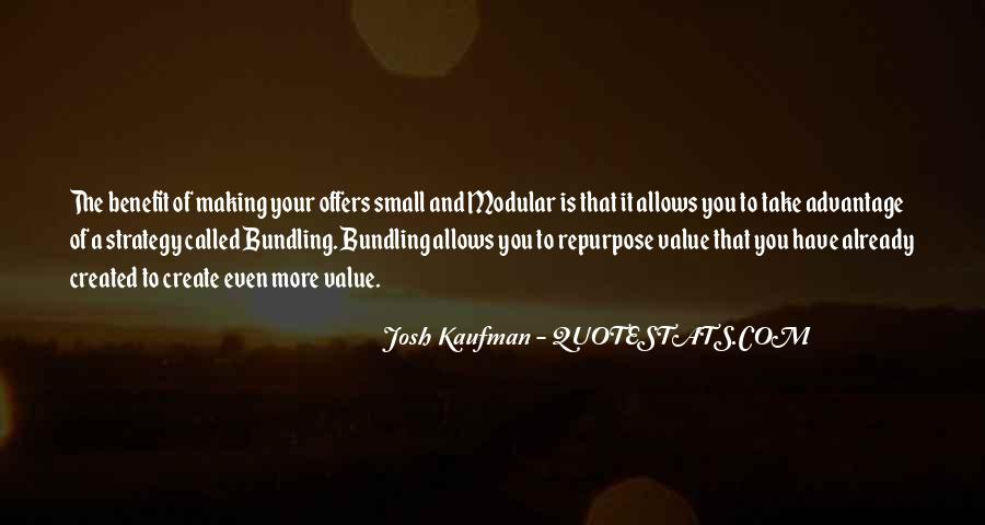 Josh Kaufman Quotes #510199