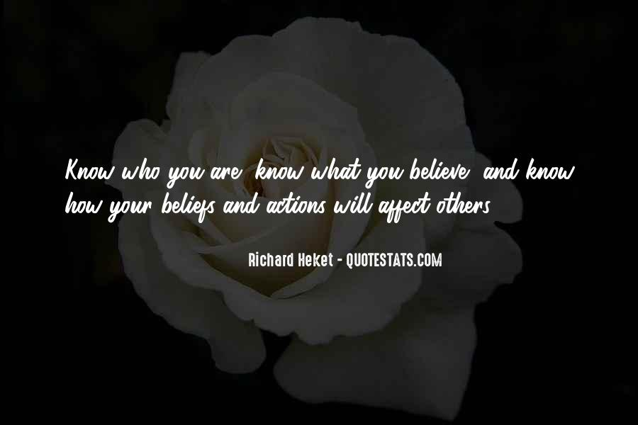 Quotes About Beliefs And Actions #1314746