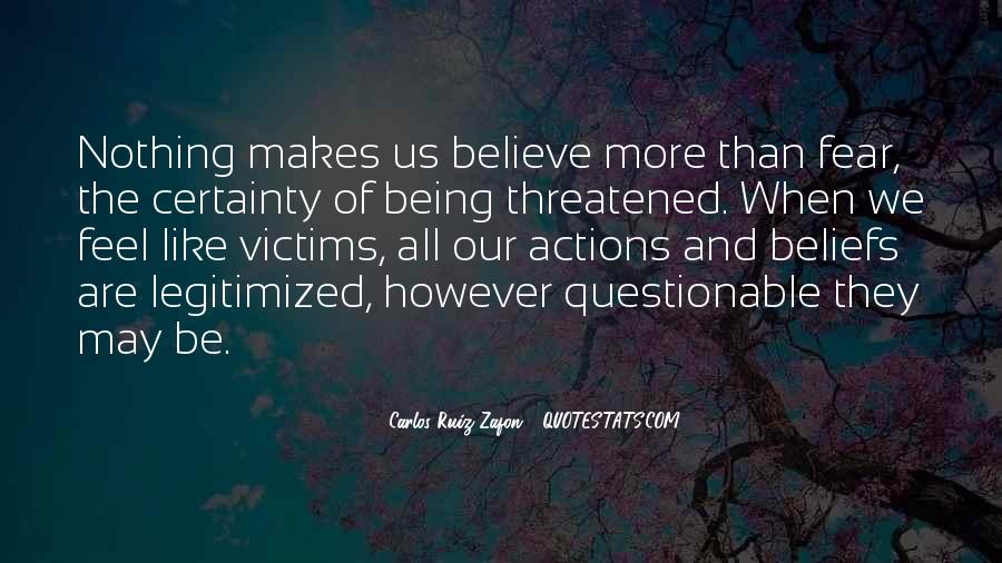 Quotes About Beliefs And Actions #1807658