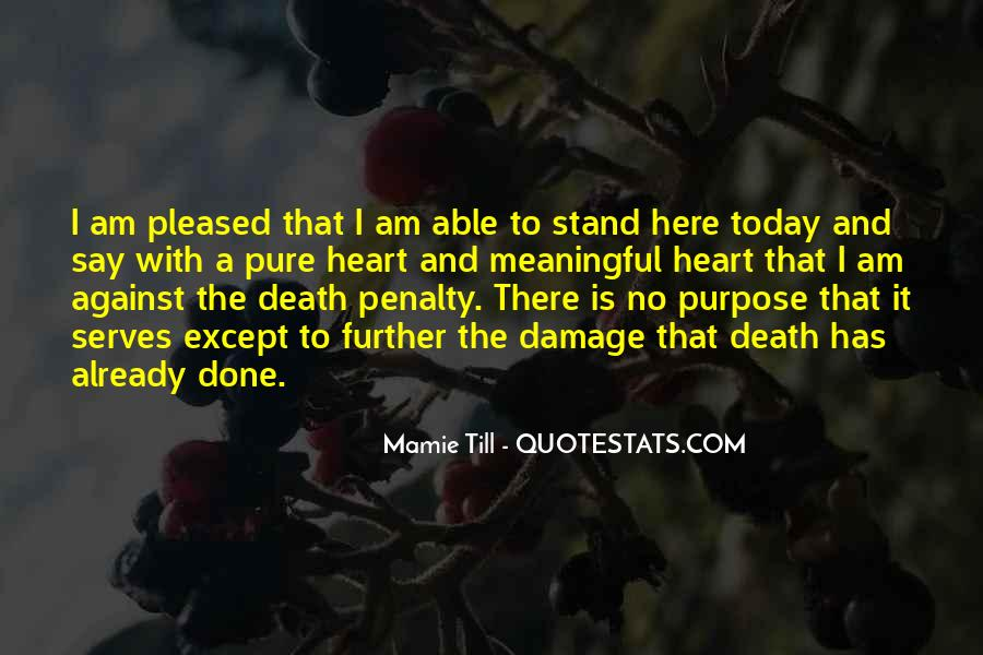 Quotes About Meaningful Death #923562