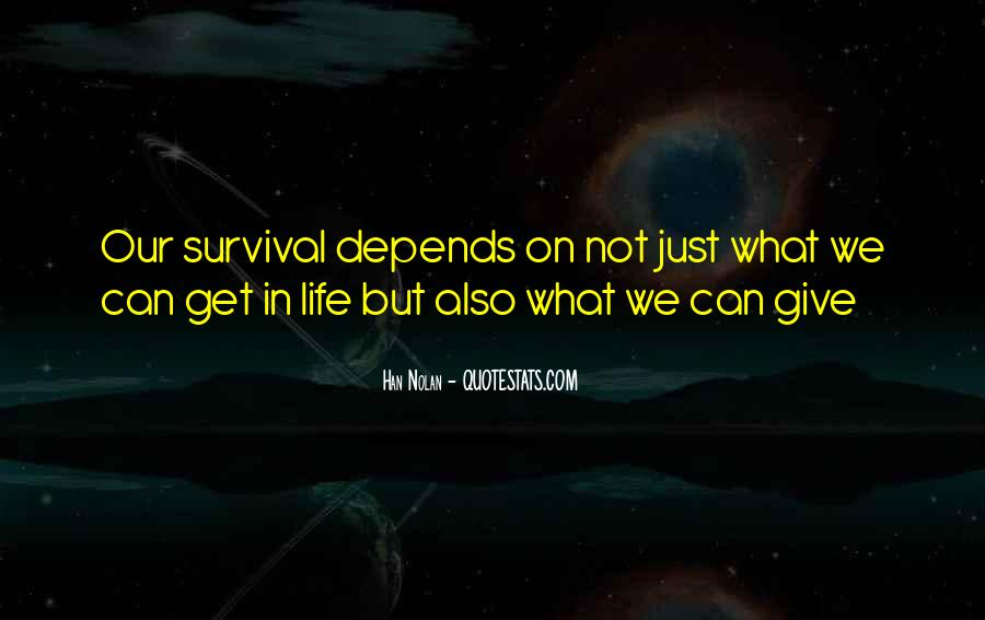 Quotes About Survival In Life #129224