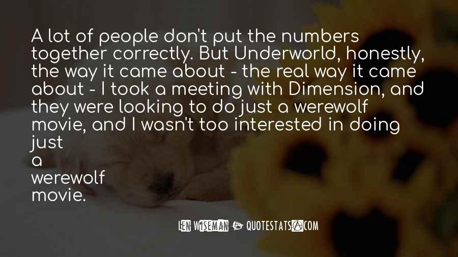 Len Wiseman Quotes #73999