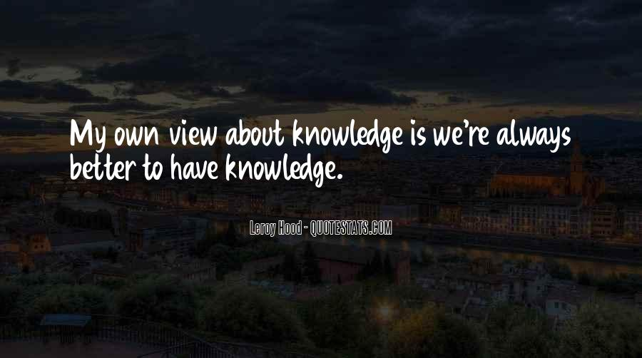 Leroy Hood Quotes #1528178